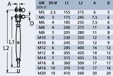 Spanner gaffel - stud M10 x 6mm_6